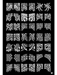 Tetragonum Nail Art Stamp Stamping Image Template Plate U series