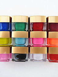 12PCS Mixed Color Pure Color UV Builder Gel UV Color Gel Polish Set Nail Art Decoration(8ML)