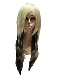 Capless Synthetic Long Straight Mixed Color Synthetic Wigs For Women