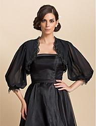 Wedding / Party/Evening / Casual Chiffon Coats/Jackets 3/4-Length Sleeve Wedding  Wraps