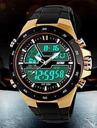 SKMEI® Men's Watch Sports Analog-Digital LCD Watch Water Resistant/Water Proof Calendar Multi-Functional Dual Time Zones Cool Watch Unique Watch
