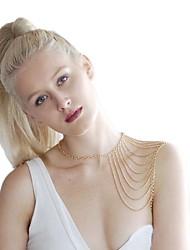 Femmes frangée châle collier Metal Body