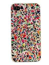 caso duro pc multicolor geometria padrão para iPhone 4 / 4S