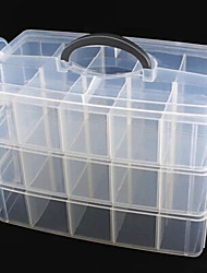 2x5 tre strati unghie Tip cellulare Storage Box Tool Case Portable vuoto (25x17x18)