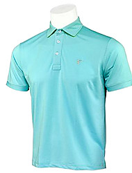 TTYGJ Men's Breathable Short Sleeve Blue Polo Shirt