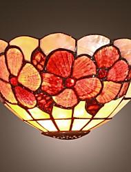 Mini Applique une lumières de style Tiffany Lampe Shell