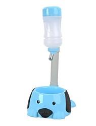 Pôle réglable de chien / Distributeur d'eau / Food Bowl - Bleu
