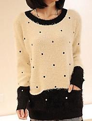 Women's Round Collar Fashion Simple Long Sleeve Sweater