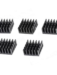 Aluminum Heat Sink - Black (10 x 22 x 22mm / 5PCS)