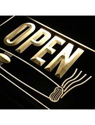 sigari aperti bar negozio di fumare luce al neon segno