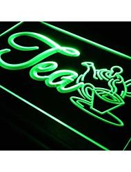 i094 APERTO tè prodotto Cafe Negozi luce al neon segno