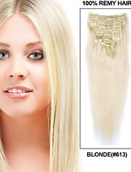 14061719 # 613 clip Blonde in Hair Extension umani capelli del Virgin