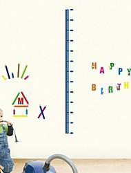 Createforlife® Cartoon Height Chart Happy Birthday Kids Nursery Room Wall Sticker Wall Art Decals