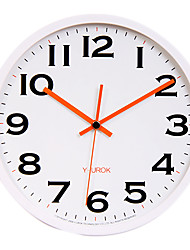 "11.8 ""Cadre Blanc Noir Figure Gras Horloge murale Muet"