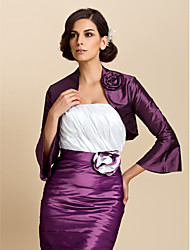 Wedding  Wraps Coats/Jackets 3/4-Length Sleeve Taffeta Purple Wedding / Party/Evening / Casual Bell Sleeves Open Front