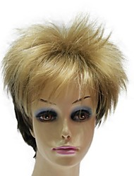 Capless Personality Synthetic Short Mixed Color Straight Synthetic Wigs