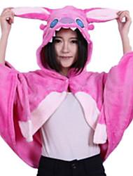 Animal extranjero con los oídos largos franela rosada Unisex Kigurumi Cabo / Cloak