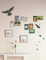 Animales Believe Me I Can Fly Frame Wall Stickers