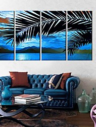 Stretched Canvas Art Coconut Tree Set of 4