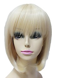 Capless Top Grade Synthetic Short light Golden Short Bob Hairstyle Wigs