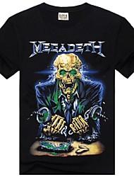 Cuello redondo ROCKSIR ® Hombres Thrash Metal Megadeth impresión 3D T-shirt