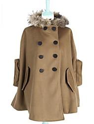 RICHCOCO Women's Thicken Cloak Woolen Oovercoat Outerwear in Top Quality