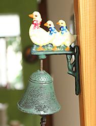 Nordic Village forjado Vintage Ferro Galo Three Swans Tipo Tipo Porta Bell