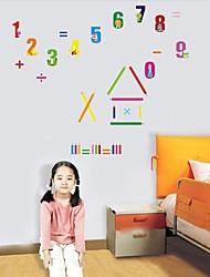 Createforlife ® Números Gráfico altura de la historieta para niños etiqueta de la pared del cuarto de niños de pared Adhesivos