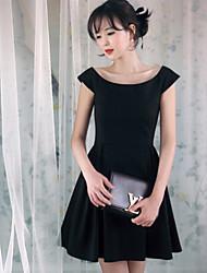 estate vestito dalla principessa elegante bateau delle donne meiqian
