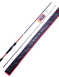 Fish Hunter - 2,13 m 2 secções M Lure rápido Carbono Rod Spinning Pesca Rod