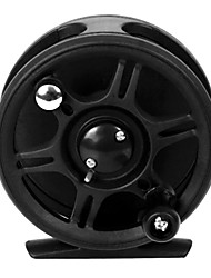 92mm plastique noir Fly Fishing Reel