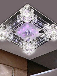 LED Modern K9 Crystal Chandelier with 4 Lights 220V