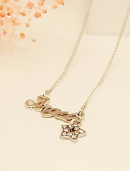 Fashion Jewelry Short Gold  Plated English Angel Set Auger Clavicle  Necklace for Women