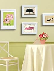 Frame Collection blanco Photo Set de 4 Europern Estilo