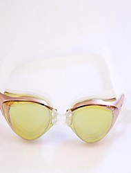 Electroplating Anti Fog Goggles Adult Swimming Glasses Gold