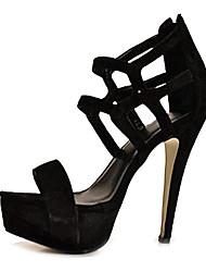 bc Mode Wildleder Frauen Pfennigabsatz Plattform Sandalen