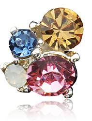 10PCS de prata inferior design colorido enchido diamante Decorações Nail Art