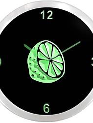 nc0995 Citron Vert Pois Cuisine Neon Sign Horloge murale LED