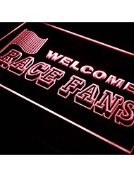 Welcome Race Fans Car Decor Neon Light Sign