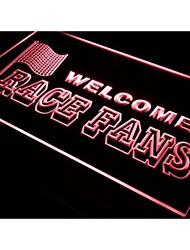 les amateurs de course de bienvenue décoration de voiture signe de néon