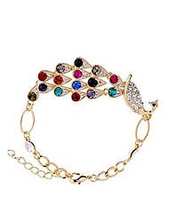 Cores da J & G Mulheres pulseira cadeia fresco