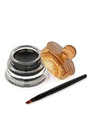profissional delineador em gel maquiagem preta impermeável longo crem delineador duradoura com escova