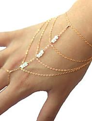 moda shixin® borla ouro pulseiras de cristal (1 pc)
