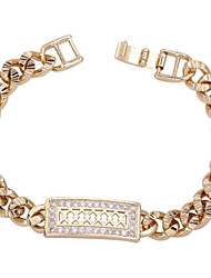 Vrouwen nieuwe collectie 18K Gold Plated Fashion Elegant Rechthoekige Design Armband SL0082