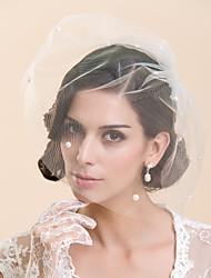 Tier One Blush voile de mariage avec perles d'imitation (plus de couleurs)