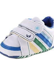 Talón plano de cuero del muchacho Primera Walker Fashion Sneakers con cinta Magic Shoes