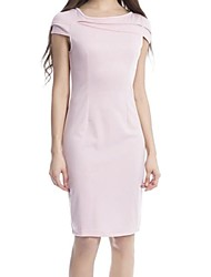 Women's     Short  Sleeve  Bodycon  Pencil    Dress