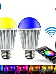 27 7W 5x5050-1.5SMD R 45-75lm G 100-150 LM B :20-50LM W 400-550LM ampoule fraîche RGBW LED Spot (220V)