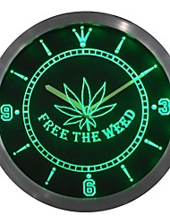 Free the Weed Marijuana High Life Neon Sign LED Wall Clock
