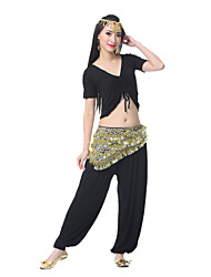 Performance Women's Sexy Spandex Chiffon Satin Belly Dance Belt